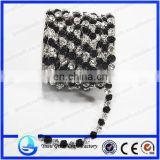 wholesale strass crystal rhinestone cup chain trimming close cup chain