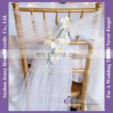 C392A white party organza chair cover sash