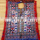 Indian Traditional kutch Patches-Vintage Indian Fabric handCraft Yock Neck Patches - Handmade Banjara Fabric mirror work patches