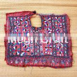 Vintage hand Embroidery Mirror work Patches- Banjara Mirror work Vintage embroidery Neck patches