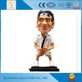 Tennis Fedder Resin Figurine Bobble Head Souvenir
