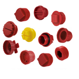 Metric BSP NPT UNF JIC Male Plastic threaded sealing hole plugs for air compressor and oil cylinder parts