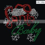 116 Janta Baby Santa Claus with Hat Christmas Motif iron on rhinestones transfer 15*15cm