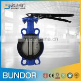 Water oil gas OEM factory PN16 PN10 1 2 3 4 inch 1.6Mpa ANSI Class150 lever handle worm gear wafer flangetype butterfly valve