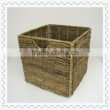 banana leaf woven foldable mesh laundry basket