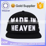 Custom Embroidery Plain Flat Short Brim 5 Panel Cap / Cheap Design Your Own Snapback Cap