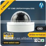 2.0MP AHD Color IR Dome CCTV Camera , Sony IMX322 CMOS sensor HD video, OSD menu control over coaxial cable Security Camera