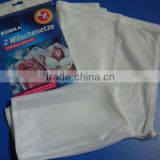 White Laundry washing net bag