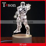 3D Visualization LED night Lighting Optical Illusion Home Decor Lamp best gift box