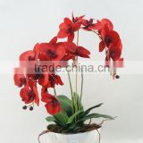 Best selling plating pot artificial flower /artificial flower making/fabric flower/china artificial flowers