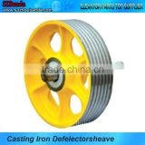 Cast Iron Rope Sheave Pulley,Elevator Cast Iron Pulley Sheave,Elevator Deflector Sheave,Elevator Cast Iron Pulley