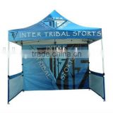 10x10 dye sublimation printing wall and top aluminum frame folding trade show canopy tent