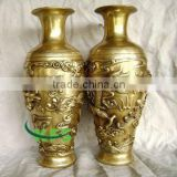 Brass dragon vases fengshui statue