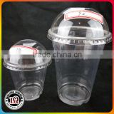 Disposable Clear Plastic Ice Cream PET Cup with 92mm Dome Lid
