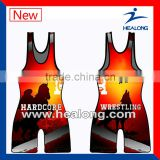 Sublimated Cheap Wholesale Wrestling Singlet Uniforms For Mens