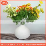 lowest EU anti-dumping duty ceramics unique wholesale good price white porcelain flower pot with relief embossment vase flower