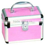 Pink aluminium Cosmetic caboodles cases