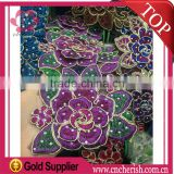 Fashion african sequence lace fabric embroidery chemical lace with crystal for India & Pakistan clothing                                                                         Quality Choice