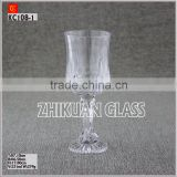 Factory audit New Products In Market Glass cup/ hot sales design Hand press Promotional Glass Cup Wine Glasses