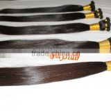hand tied weft hair extension virgin cuticle remy hair extensions 100g/pack including 5 or 6 small pcs