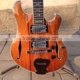 MUSOO BRAND Electric Guitar with flame maple top semi-hollow body(MI913)