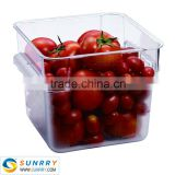 Clear plastic food disposable container 8QT microwave food container for PC airtight food container (SY-SC11D SUNRRY)