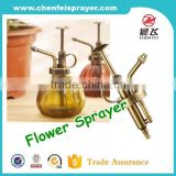 Hot sale ribbed closure output 1.5ml custom garden usage point spray pump flower water dispenser pump in any color