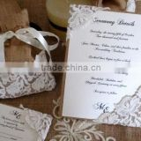 Burlap Lace Invitation