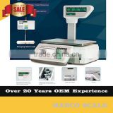 Balance 30kg price computing barcode label printing cash register with scale