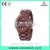 Luxury rosewood high quality watch, complete maple wood men's watch, custom made imported movement date calendar watch