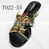 T022-55 beautiful crystal stones women shoes slipper shoes