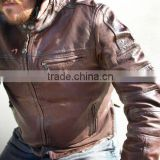 The Bike Riding Style Motorcycle Men Leather Custom Man Jackets