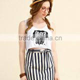 China Factory Directly Sale Custom Logo Ladies Crop Tops Summer Teenage Fashion Clothing