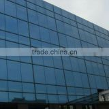 Hot sales tempered safe glass aluminium curtain wall, glass facade