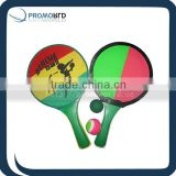 kids plastic beach ball racketbeach tennis with full printingpromotion racket 2014 new product