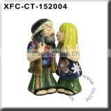 New custom personalized hippie wedding cake topper figurine