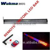 30inch 40 inch 50inch color change remote control led light bar, red, amber ,blue and white strobe light bar