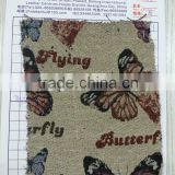 In Stock Upholstery Fabric for Sofas Fashion Butterfly Print Yarn Dyed Canvas Fabrics