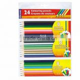 scent color pencil / metallic color pencil / mixed color pencil / 24 pc in pvc bag with paper card