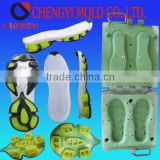 low price quick delivery rubber shoe sole cover insert molding pvc shoes heels jelly mould