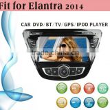 touch screen car dvd player fit for Hyundai Elantra 2014 without external frame with radio bluetooth gps tv