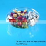 clear plastic disposable salad bowl with lid                                                                         Quality Choice