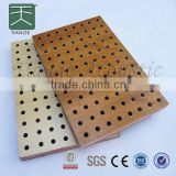 soundproof mdf board perforated decorative mdf panels wooden perforated acoustic panel for wall and ceiling