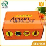 Orange full color printing corrugated shipping scarf gift box plain cardboard gift boxes                                                                                                         Supplier's Choice