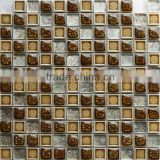 New Design Crystal Glass Mixed Ceramic Mosaic Tile for Backsplash 23045