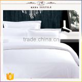 2016 Made in China 100% organic 40s 60s white cotton fabric textile factory bedding set hotel
