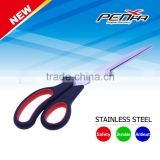 Popular daily use items stainless steel office/household scissors with rubber plastic handle