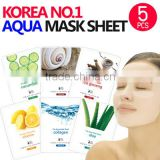 Aqua Mask Sheet 5pcs KOREA mask/ Mask sheet pack /Vitamin ALOE collagen snail essence