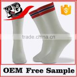 wholesale white sports socks custom logo and brand name offer free samples