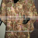 Brown floral prints Ponchos / fashion poncho print rain poncho / Ladies swimwear polyester ponchos dress